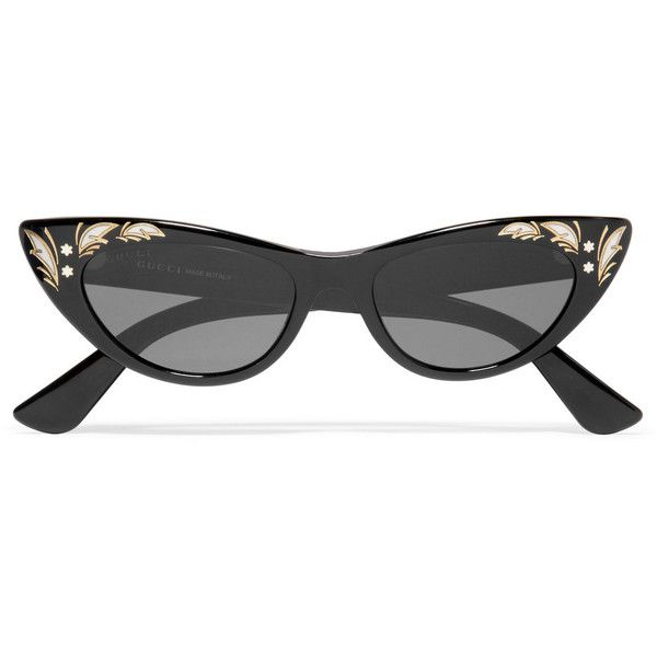 5a2c8c99a28 Gucci Cat-eye acetate sunglasses (£250) ❤ liked on Polyvore featuring  accessories
