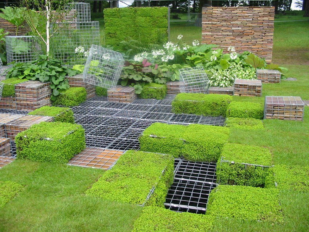garden design grid repinned on toby designs gabions grids in the ground