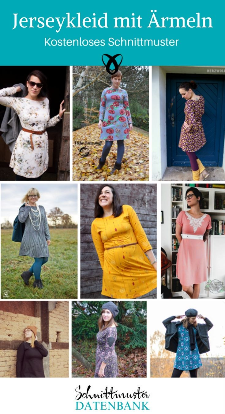 Jerseykleid mit Ärmeln 5/5 (1) | Pinterest | Freebook nähen ...