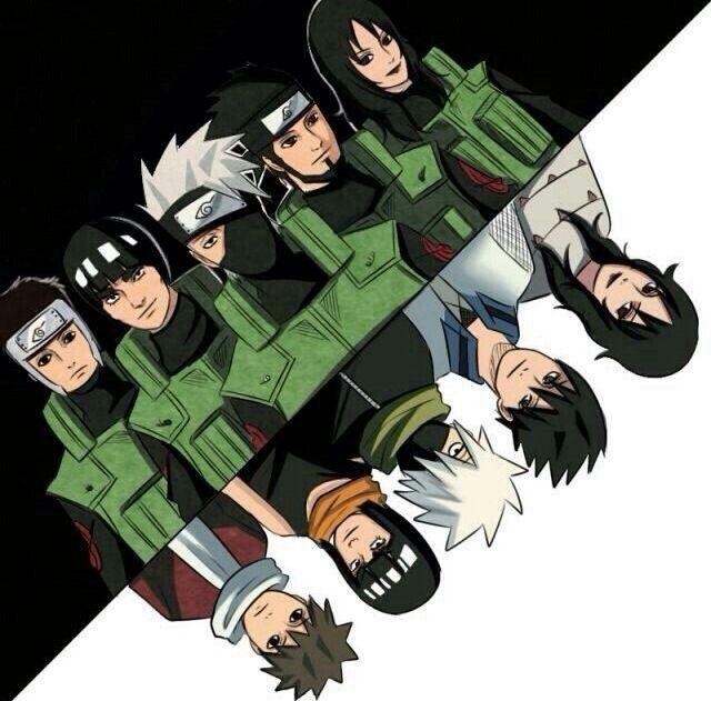 Yamato, Guy, Kakashi, Asuma, Kurenai, different ages, time