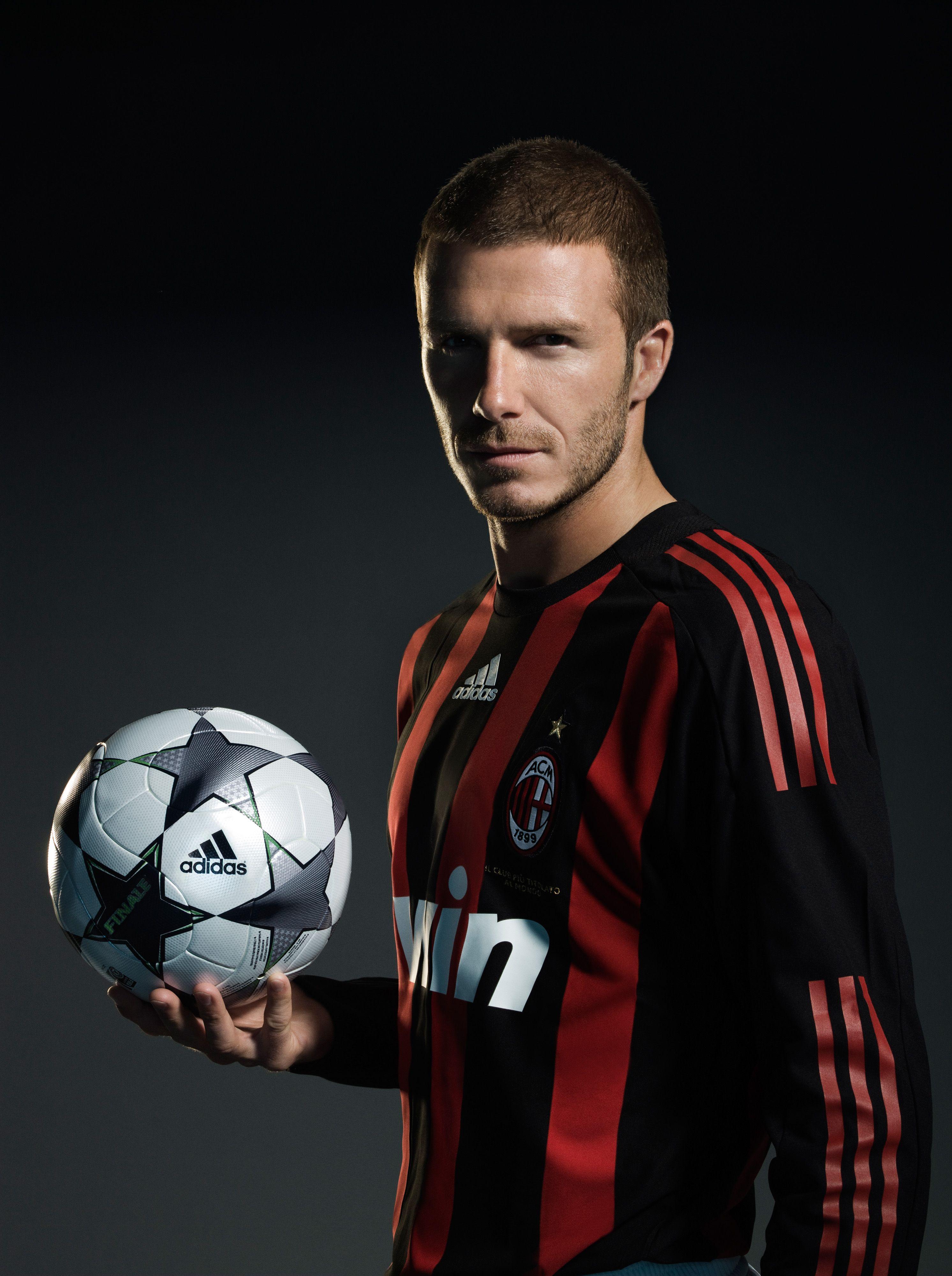 David Beckham AC Milan photoshoot 2008 Soccer poses