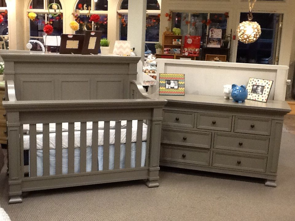 Million Dollar Baby Tillen Crib And Dresser In Washed Grey