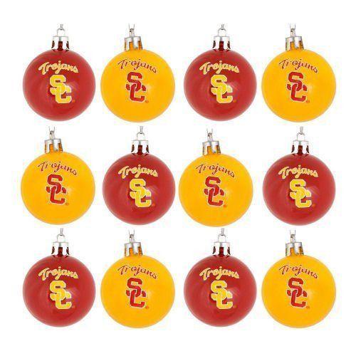 USC Trojans Mini Hanging Christmas Ornaments - Set Of 12 - USC Trojans Mini Hanging Christmas Ornaments - Set Of 12 USC Usc