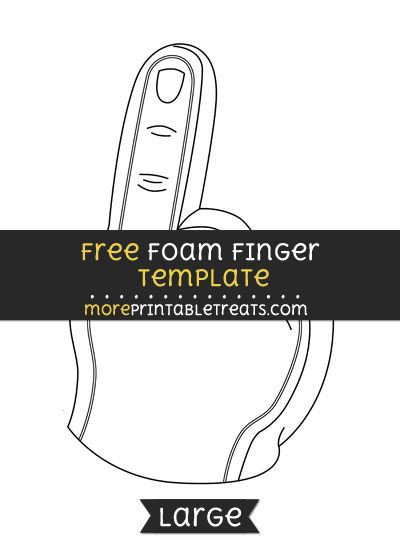 Free foam finger template large football cheer printables free foam finger template large pronofoot35fo Choice Image