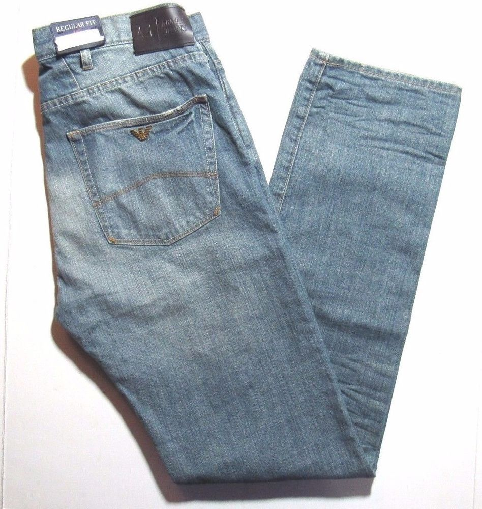 65960f3c Armani Jeans Straight Leg Regular J21 Jeans Size 34x32 on for sale online |  eBay
