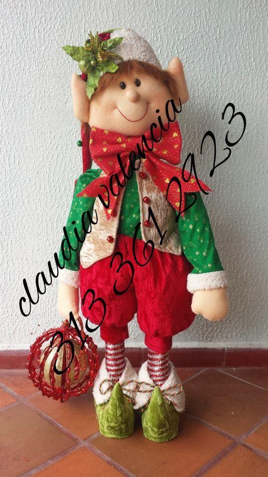 Manualidades Duendes De Navidad.Un Duende Magico Navidad Navidad Trapillo Manualidades