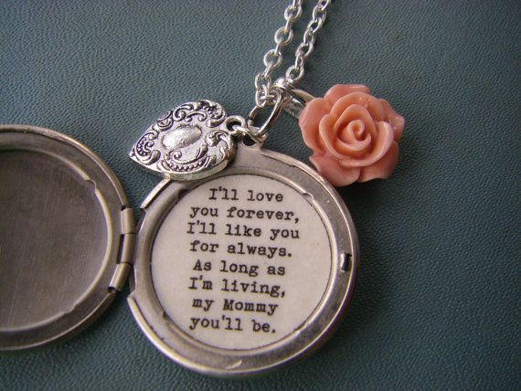 Hey, I found this really awesome Etsy listing at https://www.etsy.com/listing/188177972/ill-love-you-forever-mommy-locket-silver