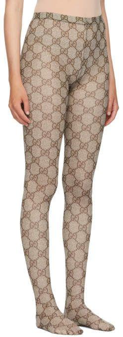 e80c24a0ae4f7 Gucci Brown GG Supreme Tights #Brown#Gucci#GG | Hosiery & Tights in ...