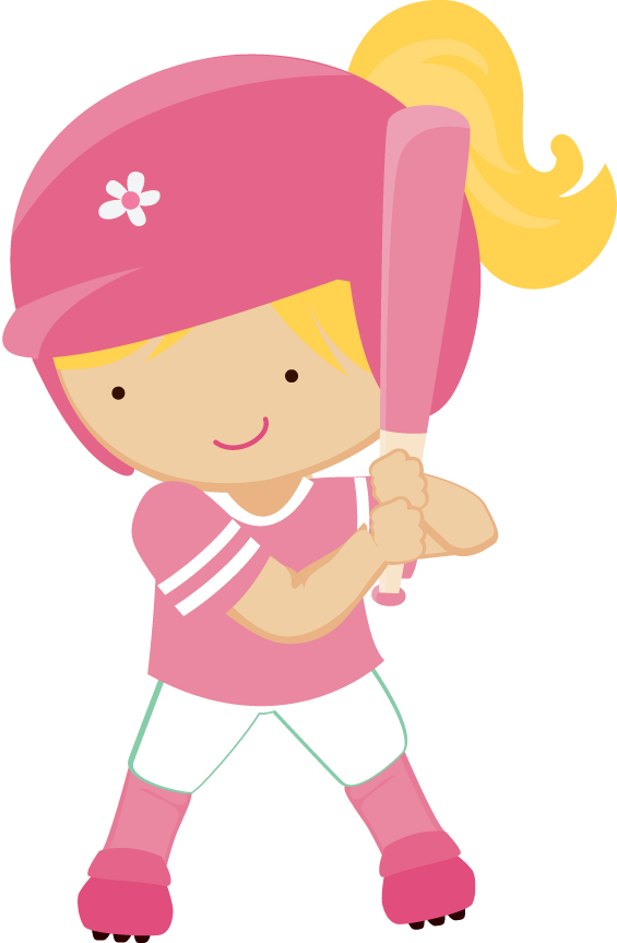 Zwd Softball Girl 04 Png Clip Art Freebies Baseball Theme Birthday Kids Clipart