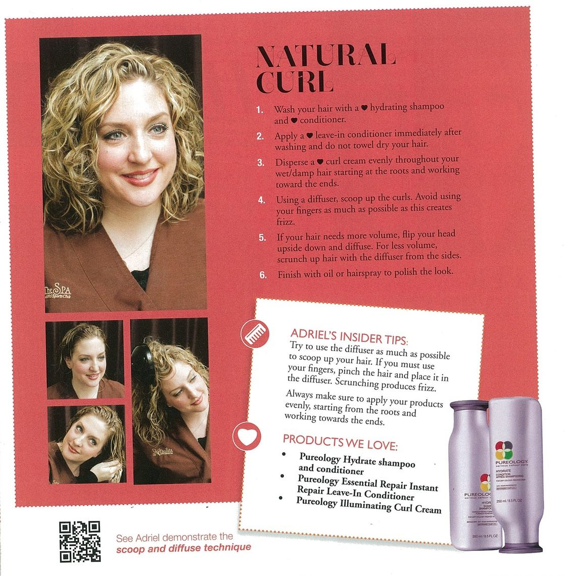 HowTo Hair Styling Guide Natural Curl PRO Sports Club
