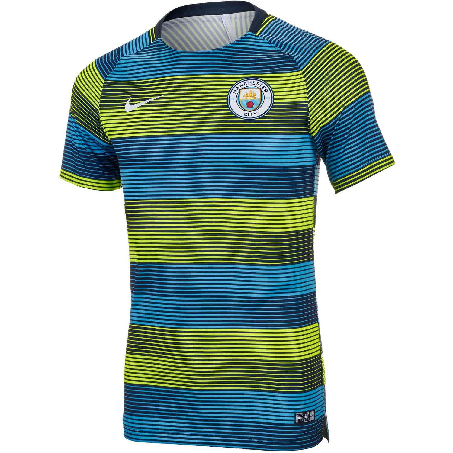 2018 19 Nike Manchester City Squad Top. Get this shirt from soccerpro.com! 881fde2bc