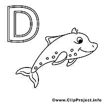 delfin ausmalbild - buchstaben zum ausdrucken | ausmalbilder