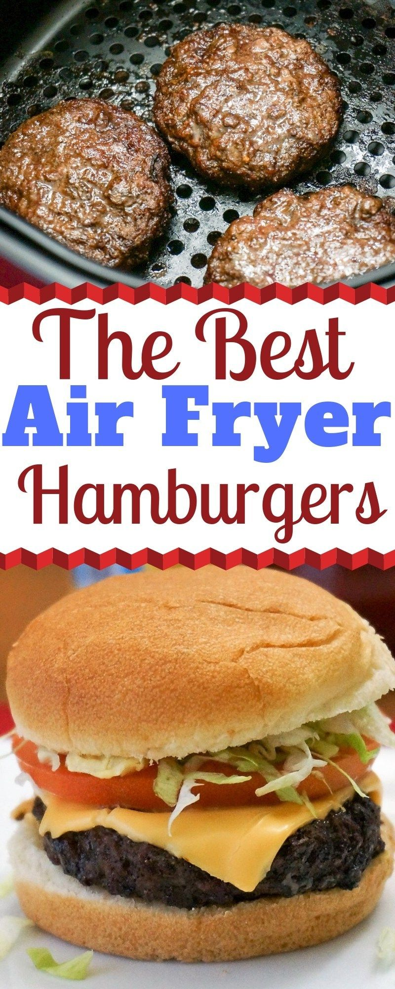 | Air Fryer Hamburgers, 400 10 - 2-3 minutes.  Read about cheese.