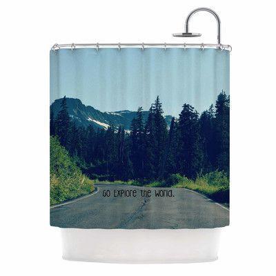 KESS InHouse Go Explore the World by Robin Dickinson Shower Curtain