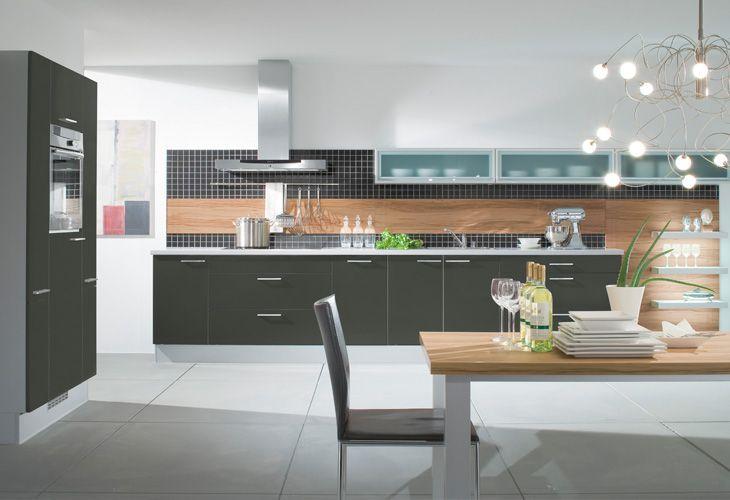 Küche in Anthrazit #Küchenzeile wwwdyk360-kuechende Küchen in