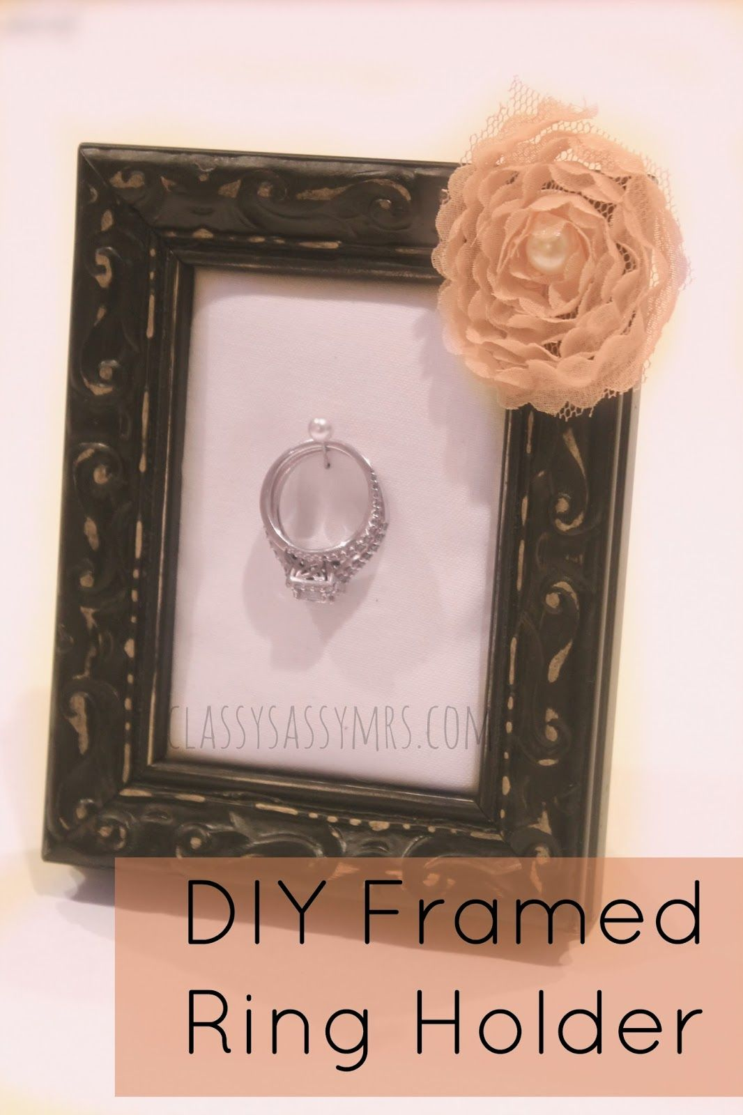 DIY Framed Ring Holder | d i y // ✄ | Pinterest