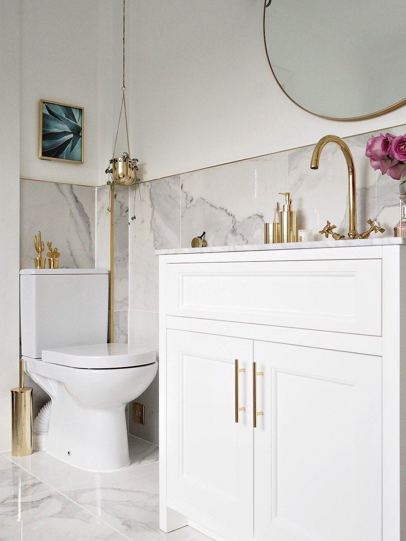 Pin On Salle De Bain Bathroom decor ideas gold