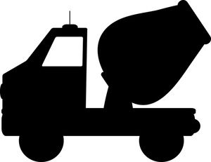 Cement Mixer Clipart Image Silhouette Of A Cement Mixer Truck At Work With Images Cement Mixer Truck Cement Mixers Mixer Truck
