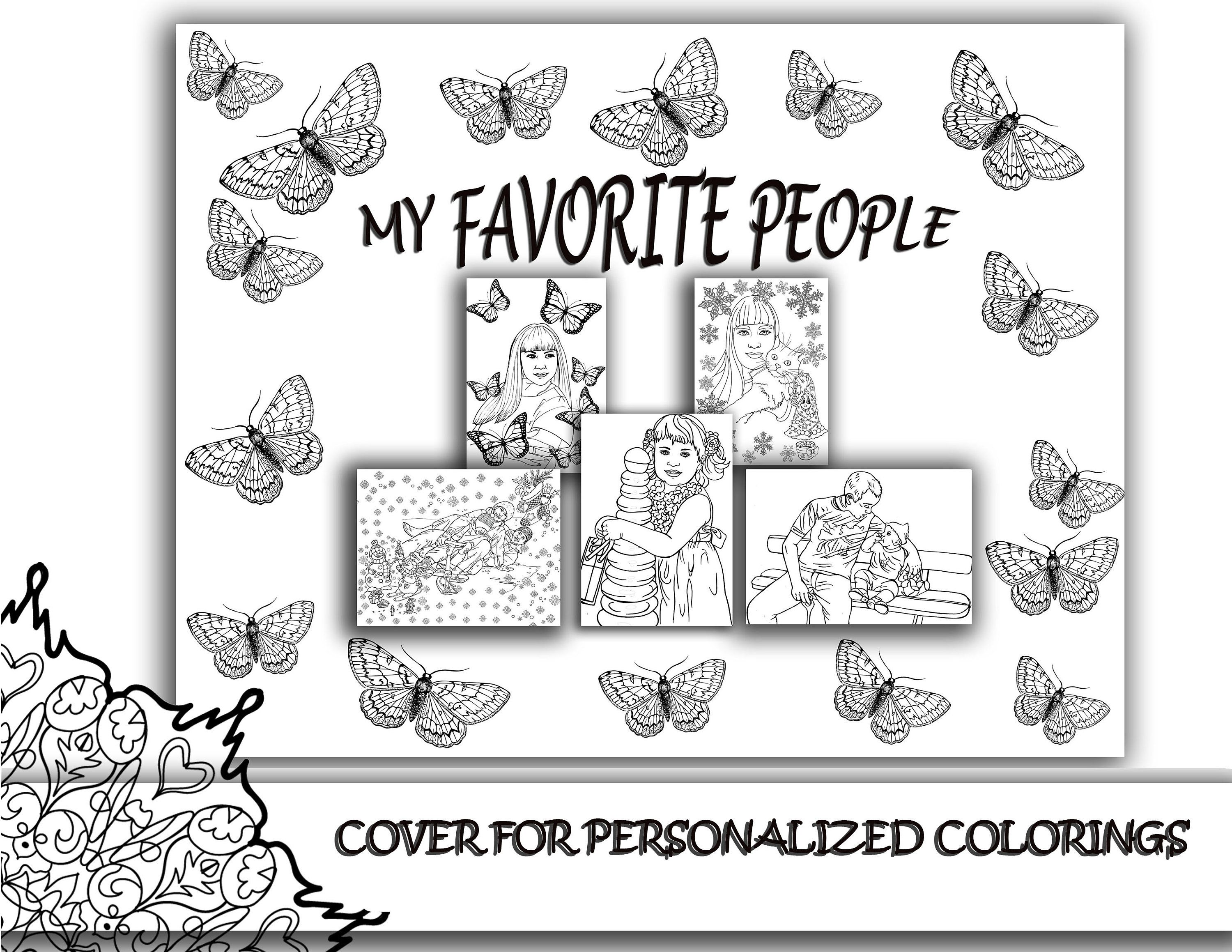 Cover Collage For Personalized Coloring Pages Cover Custom Etsy In 2021 Coloring Pages Personalized Coloring Book Book Drawing