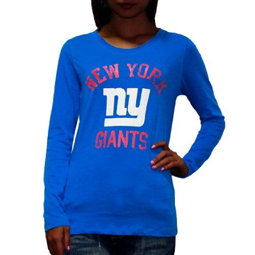 29.99 nice Pink Victoria s Secret Womens NFL New York Giants Slim Fit Tee eb0f8ea3a