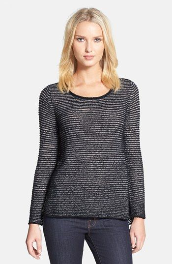 Eileen Fisher Bateau Neck Organic Cotton Sweater available at #Nordstrom