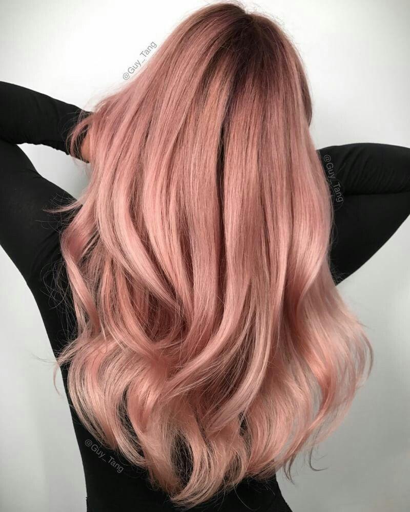 Rose Gold Hair Color Ide Warna Rambut Warna Rambut Ide Gaya Rambut