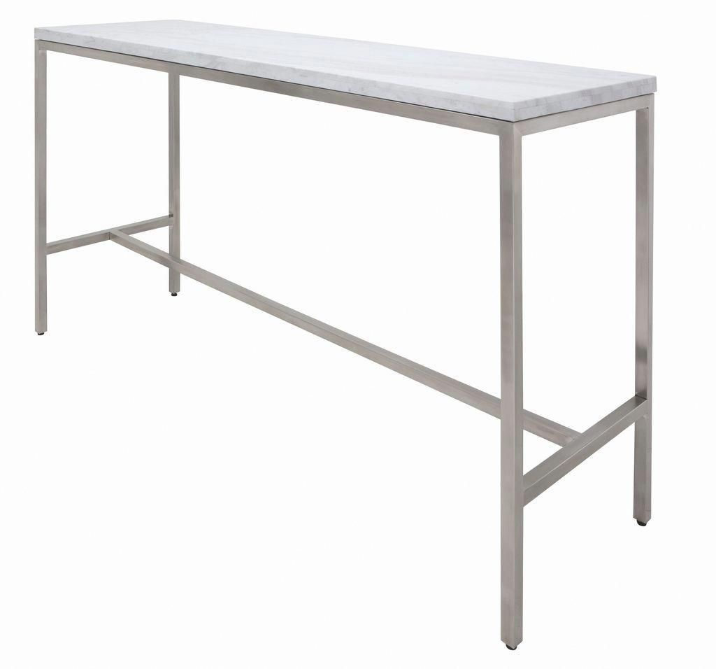 Verona Counter Table In Various Finishes Sizes In 2021 Bar Height Table Counter Height Dining Table Dining Table In Kitchen Stainless steel bar table