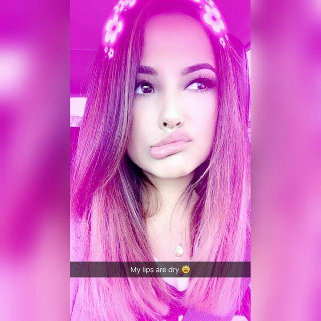 süße Mädchen auf Snapchat