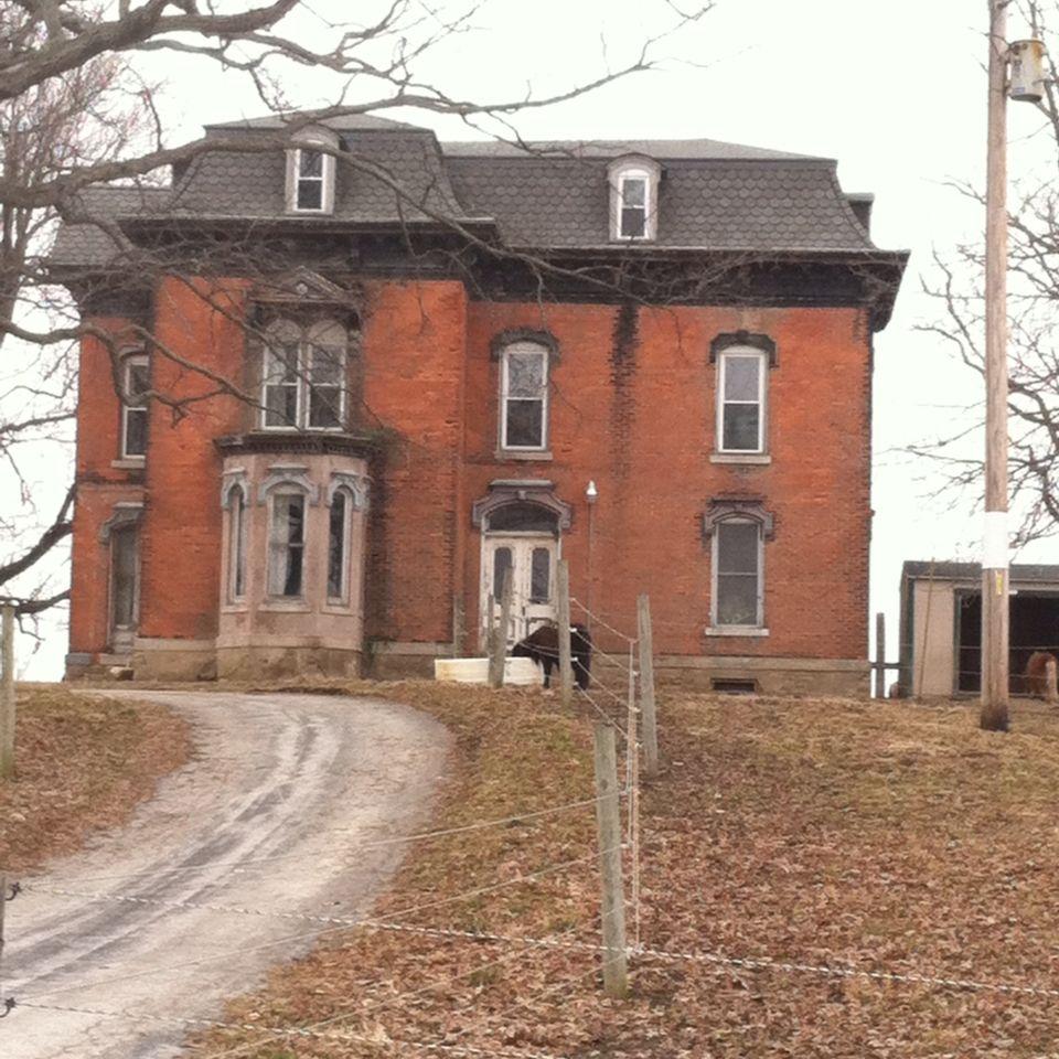Wyandot County, Ohio. Humane Society equine rescue farm