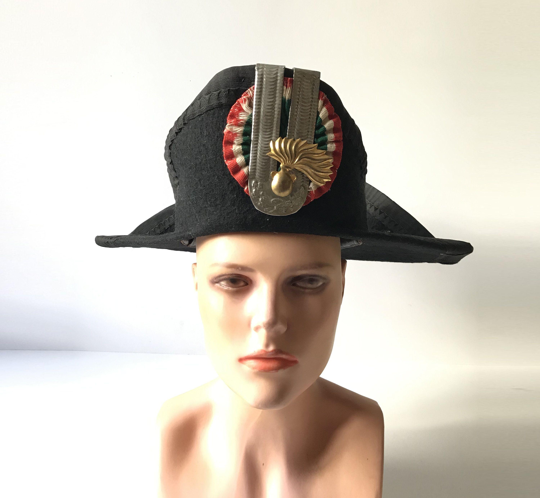 Antique Italian Carabinieri Lucerna Hat Authentic Ceremonial Etsy Police Uniforms Antique Hats Italian Police