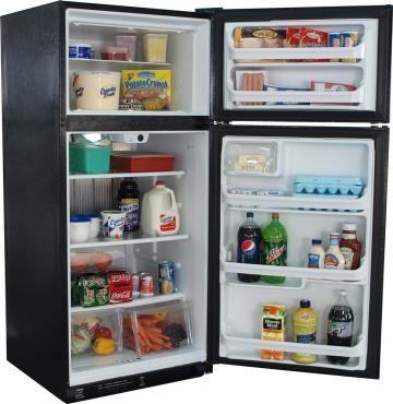Diamond Elite 19 Cu Ft Gas Refrigerators Black Gas Refrigerators Propane Refrigerators Black Refrigerator