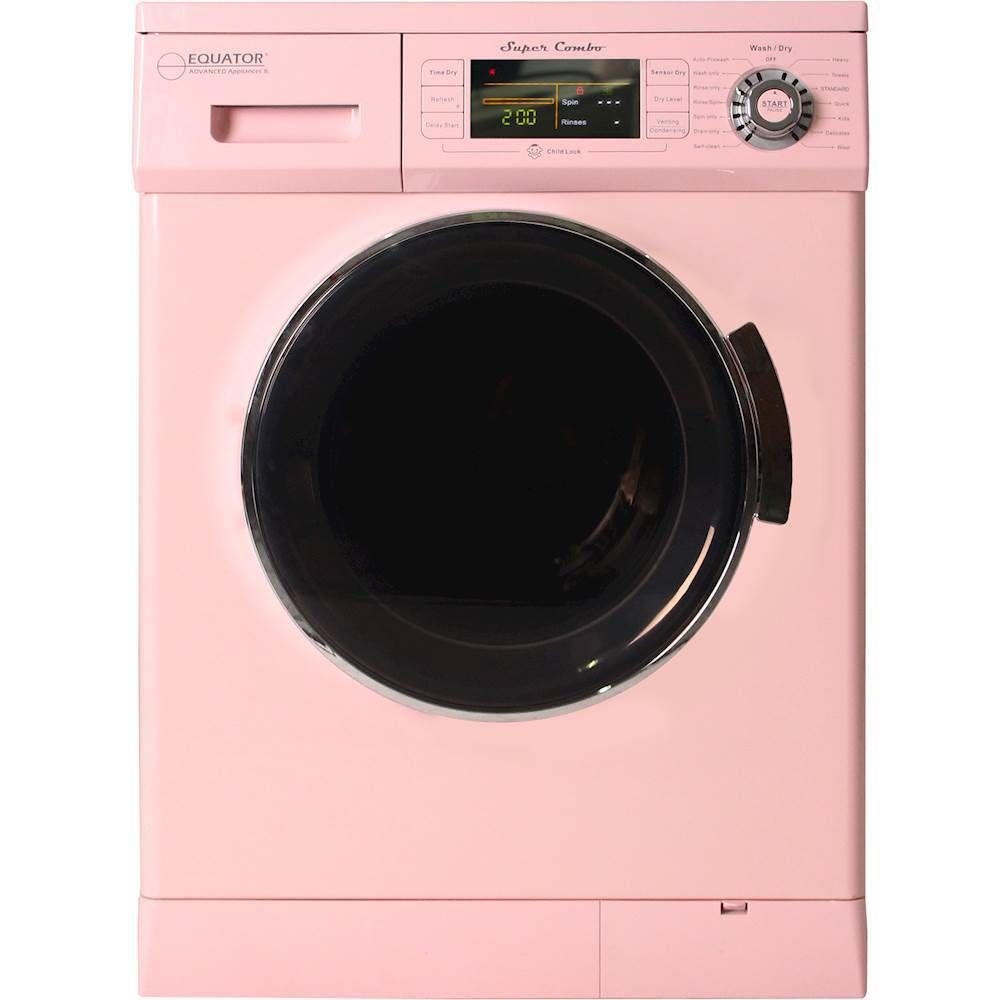 Equator 1 6 Cu Ft 7 Cycle Washer And Dryer Combo Pink With Images Washer Dryer Combo Washer And Dryer New Washer And Dryer