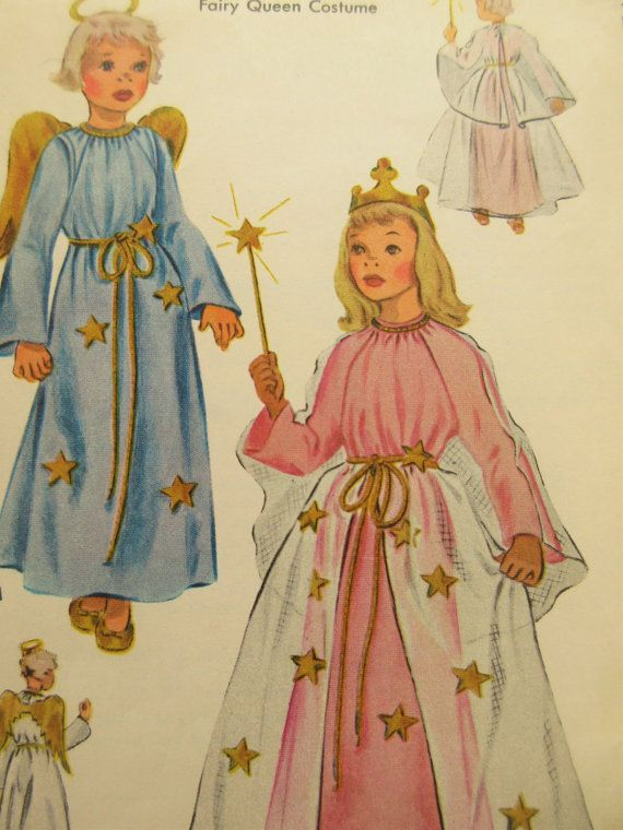 Vintage McCall\'s 1560 Sewing Pattern, Angel Costume Pattern, Fairy ...