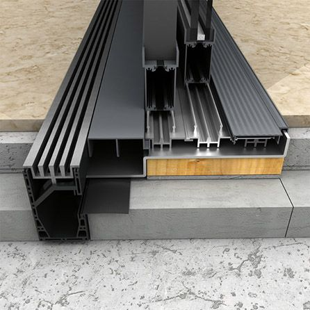 Iq Flush Threshold Drain Drainage Solutions Iqglass Architecture Details Door Design Architecture Design