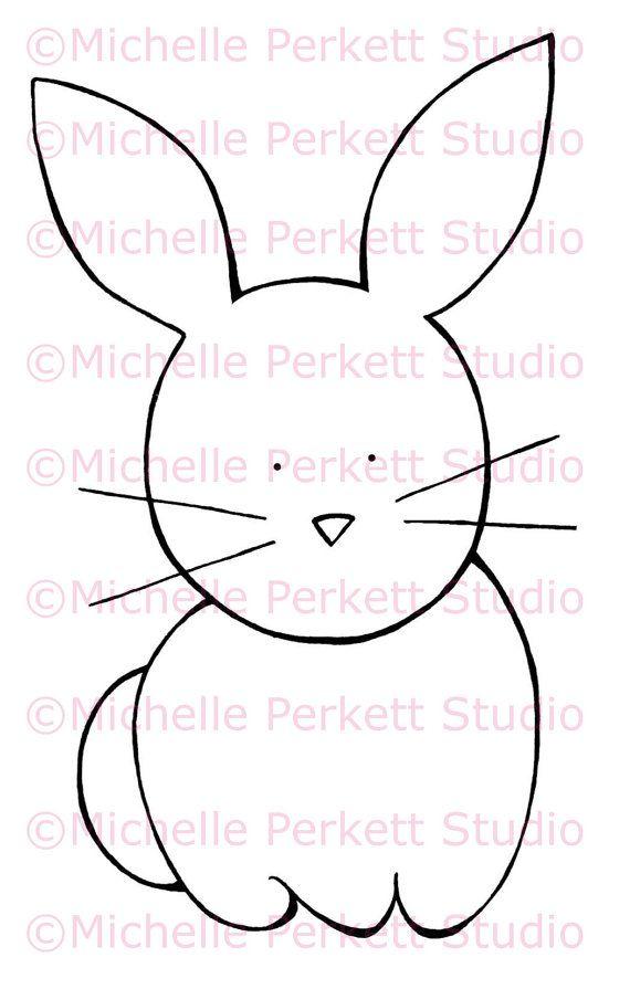 Conejo | Dibujos para coser o pintar | Pinterest | Conejos, Dibujos ...