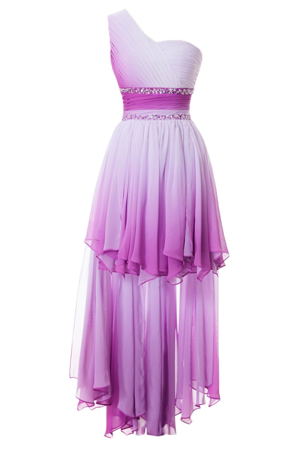 Sunvary One Shoulder High Low Chiffon Bridesmaid Dresses Homecoming ...
