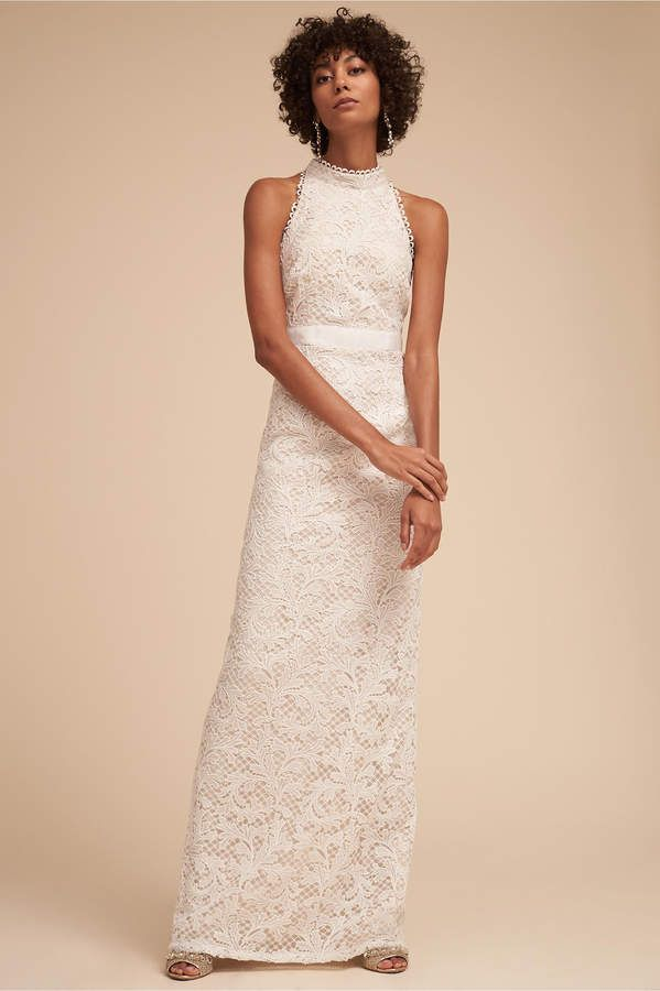 ON SALE $100... AFFORDABLE WEDDING GOWN....Allover crocheted lace ...