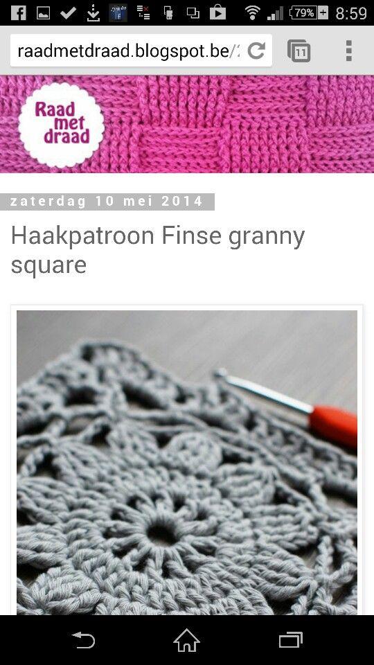 Finse Grannysquare Haken Crochet Squares Pinterest Haken