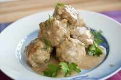 Turkey Swedish Meatballs. ( I fixed this with mash potatoes instead of the sugge...   - Get in my belly -