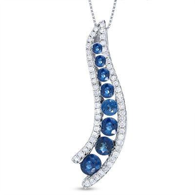 Diamond pendant necklace journey pendant in 14k white gold diamond pendant necklace journey pendant in 14k white gold with diamond accents aloadofball Images
