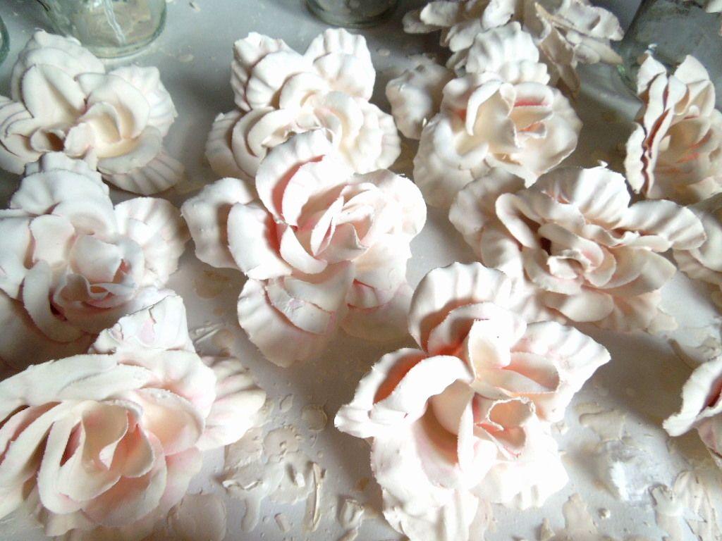 Plaster Silk Flowers Baubles Pinterest Plaster Flowers And