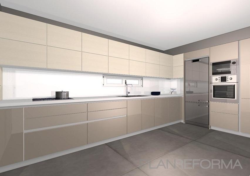 Cocina Estilo contemporaneo Color beige, gris diseñado por FUS-SIO ...