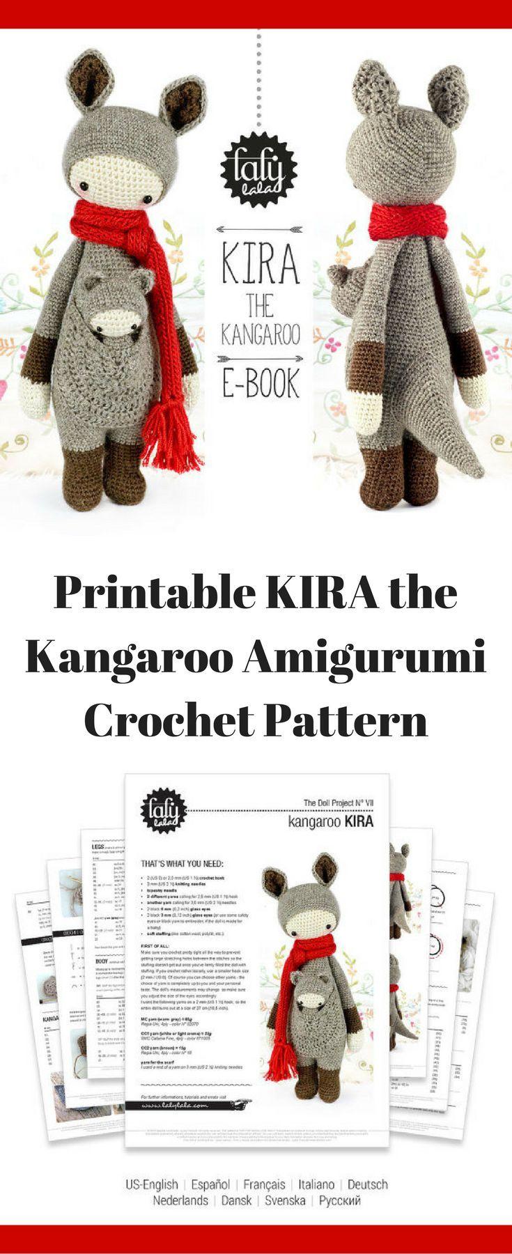 Kira the Kangaroo amigurumi crochet pattern #ad #amigurumis #amigurumidoll #amigurumilove #amigurumitoy #amigurumipattern #crochet #crochetaddict #crochetlove #crochetpattern