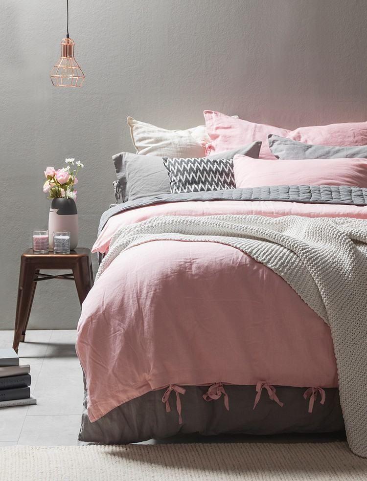 deco chambre ado fille gris et rose. Black Bedroom Furniture Sets. Home Design Ideas