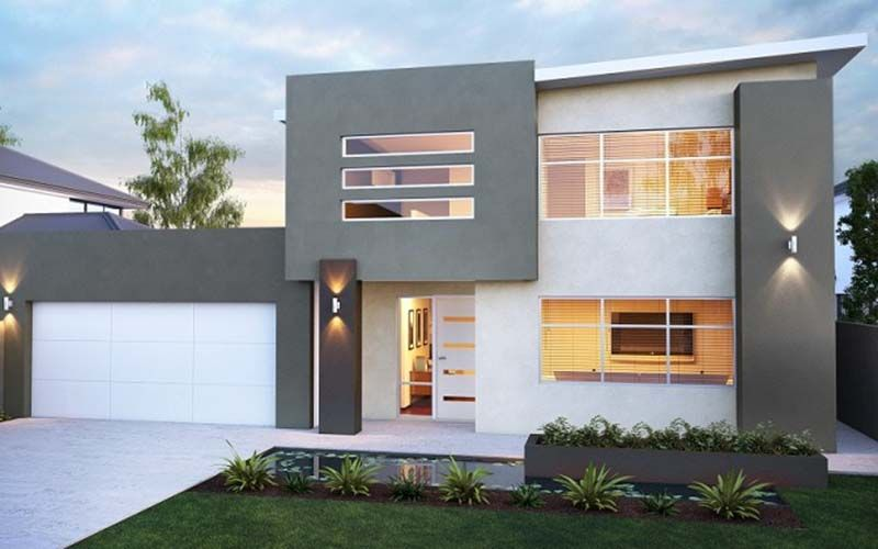 Attractive Modern Home Design With 2 Floor. Part 8
