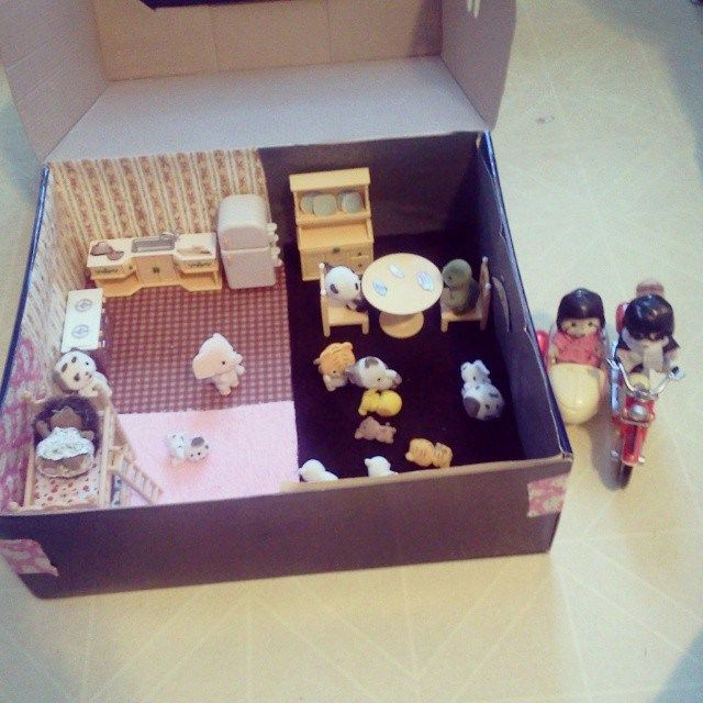 Shoe Box Dollhouse Craft For Kids: Kid's: Houses, Building, Making