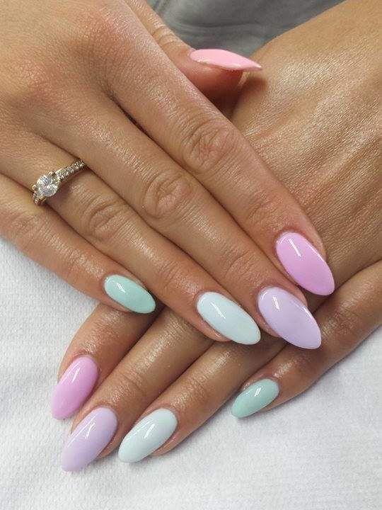 30 Stylish Short Gel Nail Designs Multicolored Nails Best Acrylic Nails Summer Acrylic Nails
