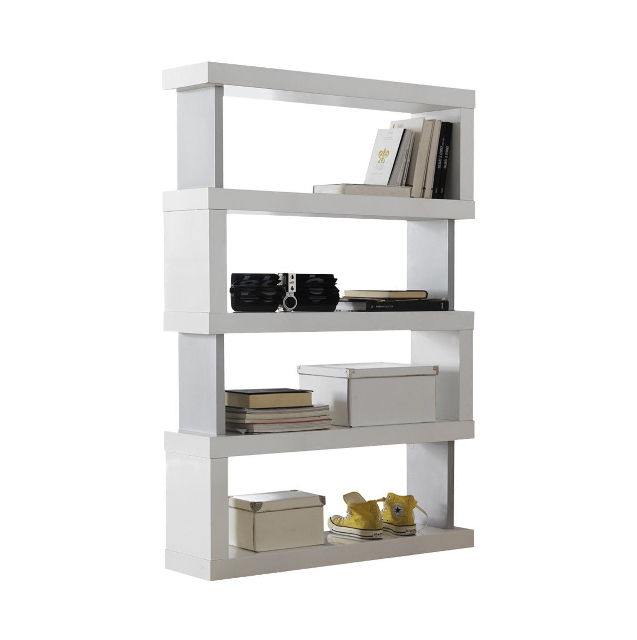 Estanter a separador de ambientes de 4 estantes con - Estanterias separadoras de ambientes ...