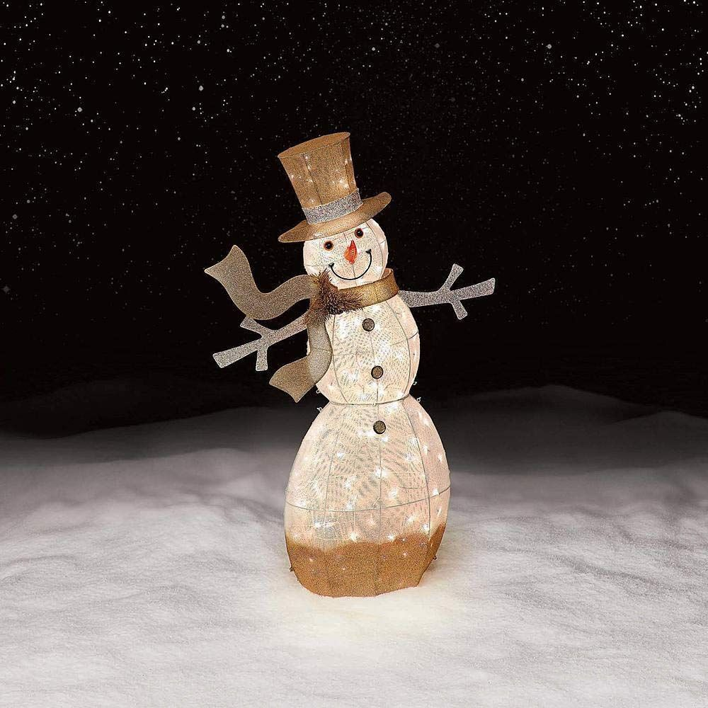 Jaclyn Smith 2020 Christmas Ornaments Jaclyn Smith 52In 150L Snowman Gradient Gold * More details might