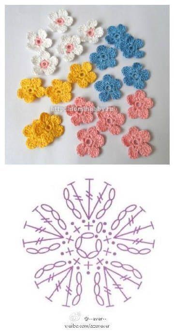 Crochet Flower Pattern Source By Sheri447 - Small Balcony Ideas